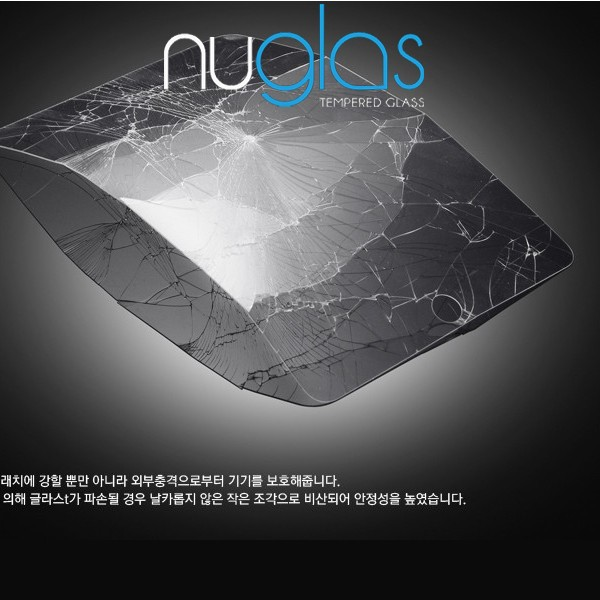 9h Tempered glass for iPad air2 Nuglas package 99% clarity fingerprint free glass protector