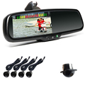 "CE RoHS 4.3"" Monitor Rear View Mirror Camera With Parking Sensor"