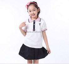 New design girls in school short skirts and school uniform shirts wholesale,uniform for school