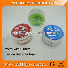 5.5cm customized logo plastic led light <strong>yoyo</strong>