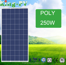 poly silicon high efficiency PV solar panel 250 watt 30v for home system