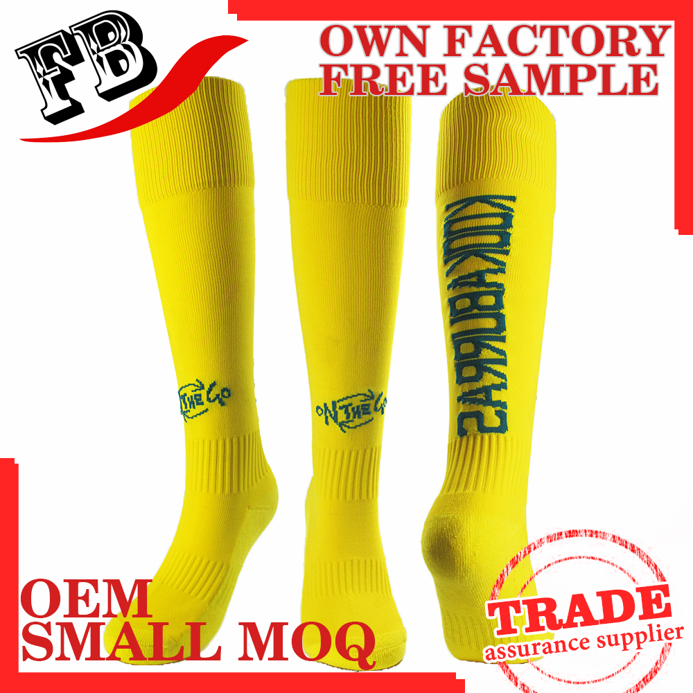 Bulk wholesale men football custom knitting soccer socks