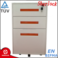 High gloss white office furniture vertical type oem 3 drawer filing cabinets