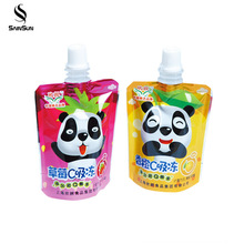 Baby Food Reusable Juice Liquid Food Grade Packing Whey Protein Sachets Powder Suction Nozzle Pouch Bag