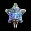 Decorative Colorful Star Heart Led 3D Fireworks Effect Bulb Light