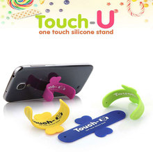 Mobile Phone gift holder U Stand Silicone 3M sticky back table support