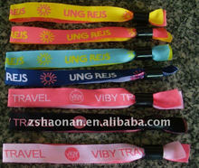 2016 High quality custom woven wristbands festival wristbands for events