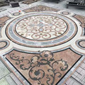 Water jet medallion of marble