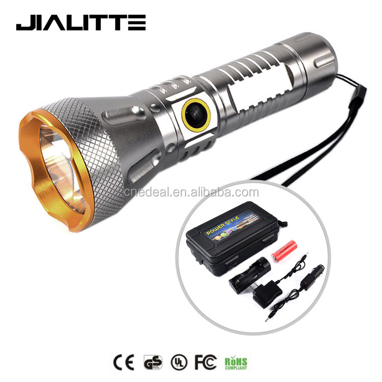 Jialitte F083 with 18650 battery and charger 2000lm LED tactical torch XML <strong>L2</strong> 5 light mode handheld waterproof flashlight