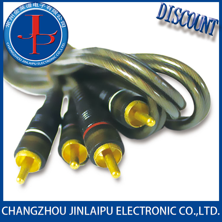 Jinlaipu high quality 3rca male to audio video 3 rca cable for indonesia with good price