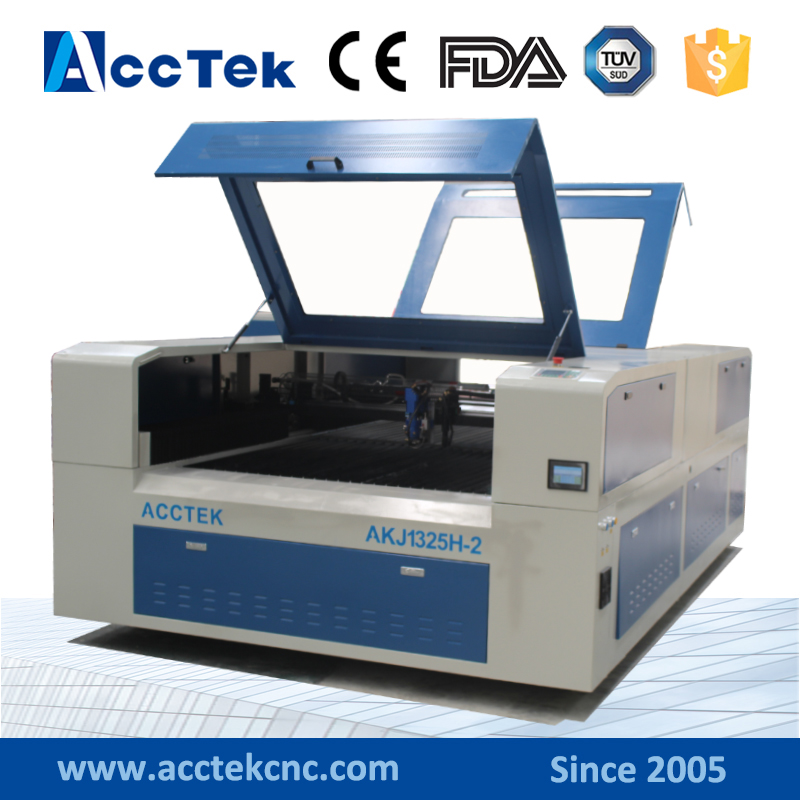 1325 cnc laser machine engraver router , fully enclosed double laser heads laser metal cutting machine for fabric ,wood