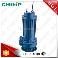Chinese Supplier Chimp 1.5KW 2HP Copper Wire Cast Iron Sewage Submersible Pump