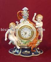 Classical Antique crafts table clock,home decoration ceramic, pottery, porcelain,MOQ:1PC(B15028)