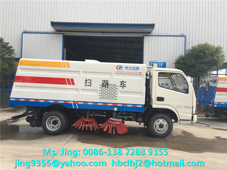 High quality dongfeng 5T vacuum truck mounted road sweeper for sale in Kyrgyzstan