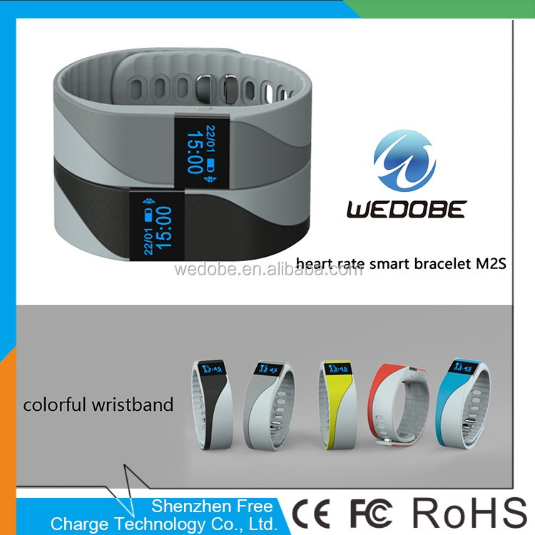 wedobe Waterproof sleep monitoring pedometer heart rate fitness sport smart bluetooth bracelet with vibration BL_<strong>K1</strong>
