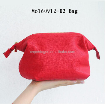 Wholesale fashion luxury Leather hand band zipper bag
