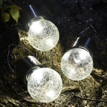 Crackle Glass Globe Solar Lawn Light Solar Garden Light