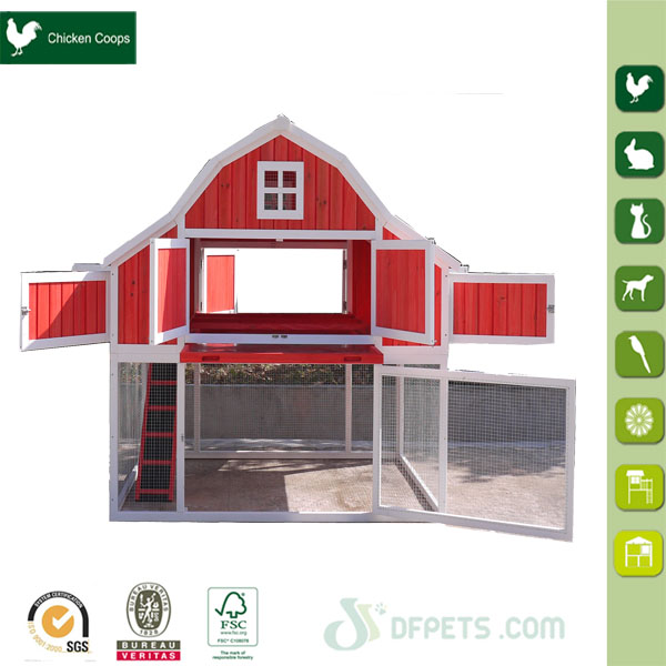 Newest colorful design wooden luxury chicken coop for sale