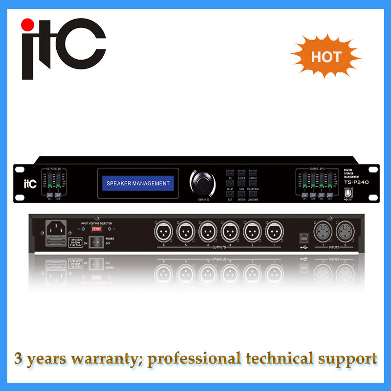 Professional digital audio processor with DSP effector