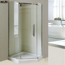 Chrome Shower Glass Box Floor Panel & Hexagon Shower Enclosure Box With Fiberglass Prices