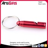 art and craft metal whistle shape promotion keychain keyring