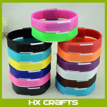 Wholesale customize led new wrist bands silicone watch cheap vogue silicon watch