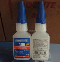 High quality Loctit 406 Instant dry glue plastic rubber acidic surface of the porous adhesive strength instant adhesive fast