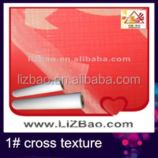 cross texture lamination film plastic rolls