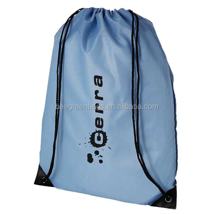 Direct Factory Manufacturer Prodrawstring bag /printed bag drawstring with PU leathermotional polyester