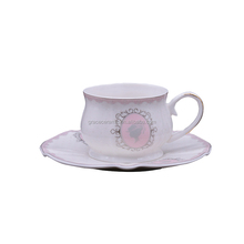 Wholesale Dinnerware Pink antique japanese china tea set porcelain afternoon tea cups sets