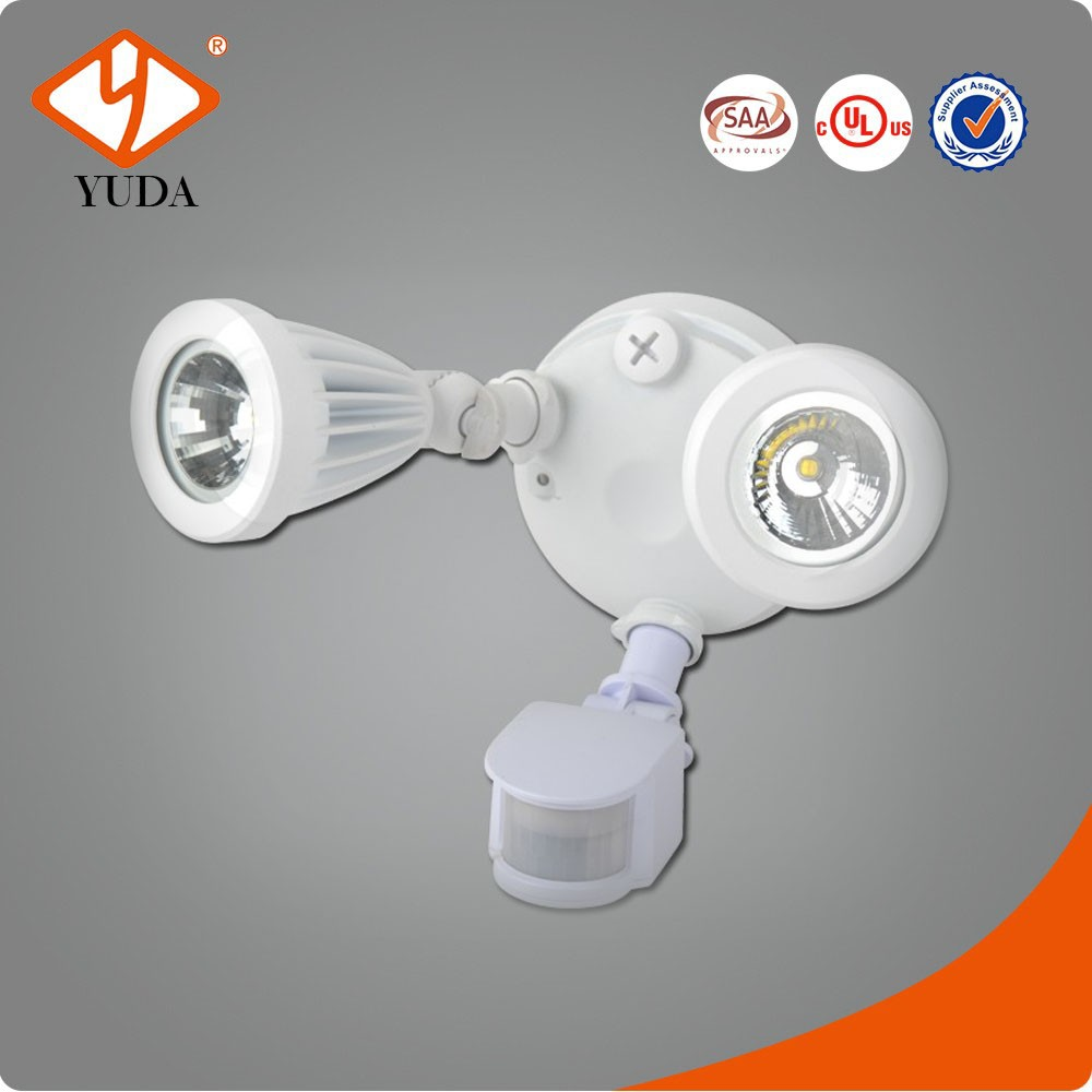 Outdoor 2-head Motion Activated Twin Head pir auto led light