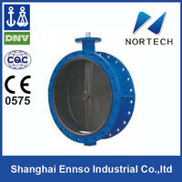 High Quality Double Flange Concentric long stem butterfly valve