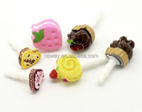 Strawberries cakes anti-dust plug for 3.5mm mobile phone earphone jack