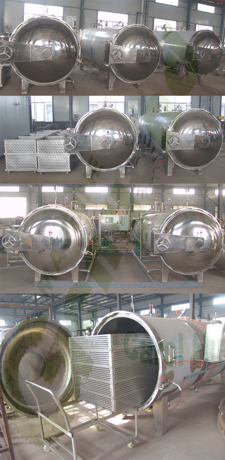 Double-deck bottle sterilizing machine for jars