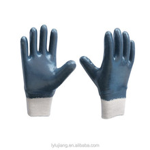 High Quality Logo Glove Oil Resist Nitrile Coated Glove Manufacturer