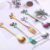 cute Leaf spoon fork stainless steel ice cream coffee for bar Restaurant