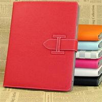 Fashion design litchi grain smart cover leather case for ipad air