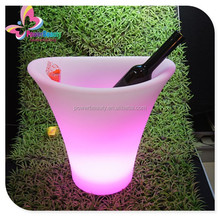 Led Light ice Bucket / ice Container / Beer Barrel,rechargeable lighting led plastic ice beer bucket