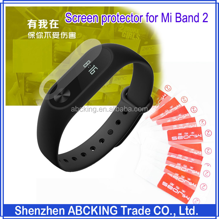 MIJOBS Ultra Slim Clear Screen Protector For Xiaomi Mi Band 2 Miband 2