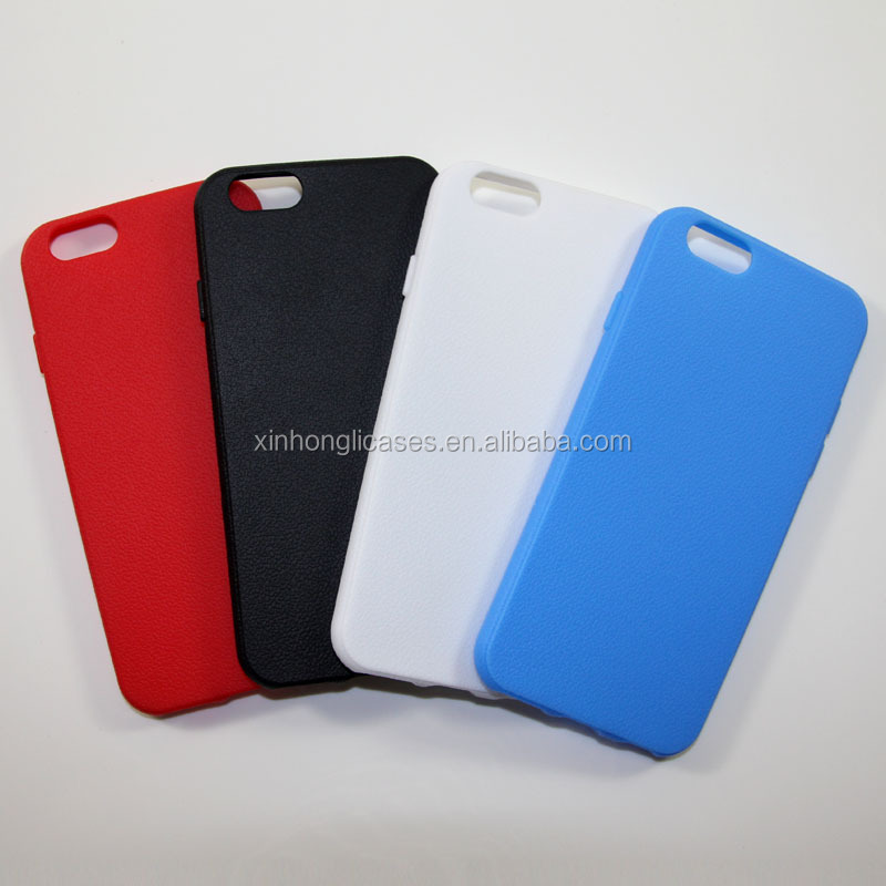 TPU Gel Case for iPhone 6, Plain Soft Rubber Case for iPhone 6