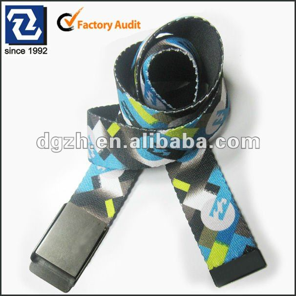 Fashion webbing belt, custom polyester web belts