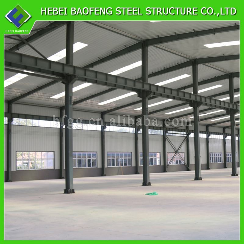 aluminium light steel structure warehouse with eps/pu sandwich panel insulated warehouse in steel structure durable for sale