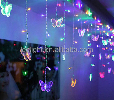 Extendable PVC wire warterproof LED butterfly fairy rope lights for wedding holiday christmas decoration