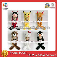 furry animal hats funny adult animal winter hats with paws wholesale