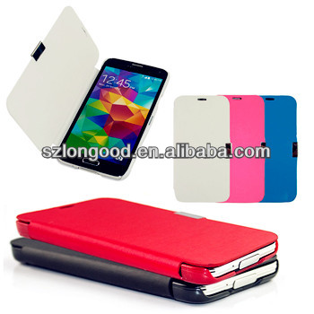 Magnetic smart PU Leather Flip Wallet Case Cover For Samsung Galaxy S5 i9600