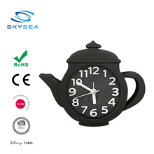Wholesale ABS decorative alarm clocks teapot table mounted clock