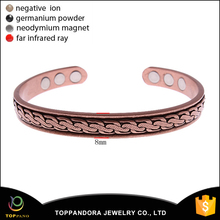 Factory directly top quality pure cooper jewelry brass bracelet energy health bio magnetic bangle energy bangle for women