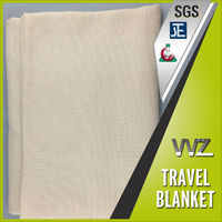 Modacrylic and polyester blend material woven soild color travel blanket bus blanket