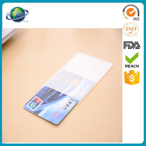 Clear transparent business pvc credit card holder