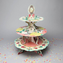 3 Tier Round Cake Cupcake Stand Afternoon Tea Three Tiered Cake Stand Birthday Wedding Party Display